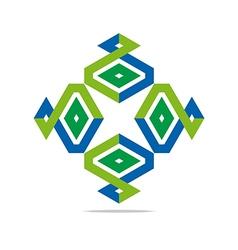design parallelogram shuriken symbol icon vector image