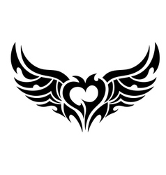 Devilish heart tattoo vector image