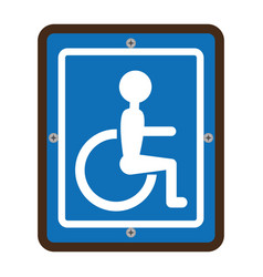 disabled zone traffic signal vector image