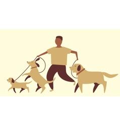 Dog walker vector image vector image