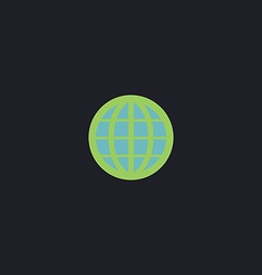 Earth Globe computer symbol vector image vector image