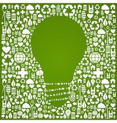 Eco green world ideas background vector image vector image