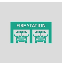 Fire station icon vector image vector image