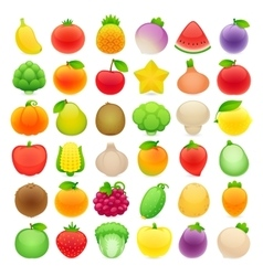 Fruits and vegetables big collection vector