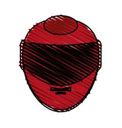 Helmet doodle vector