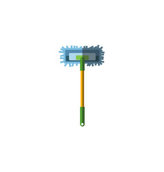 Isolated broomstick flat icon besom vector