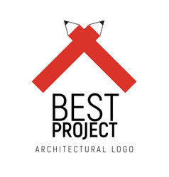 Logo template for architectural vector