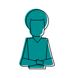 man with afro crossed arms icon imag vector image