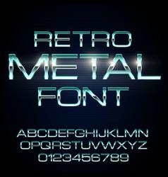 metal elegant font vector image