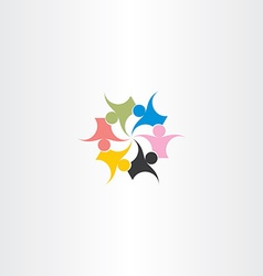 people icon teamwork concept vector image
