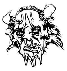 Satan head vector