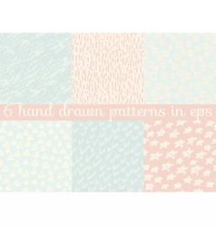 Seamless wallpaper pattern background set vector
