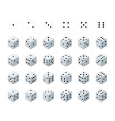 set of isometric dice vector image