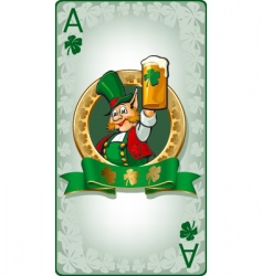 St Patrick's playing card vector image
