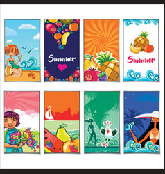 Summer holiday templates vector
