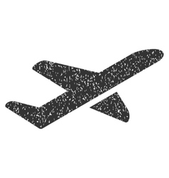 Takeoff Icon Rubber Stamp vector image vector image