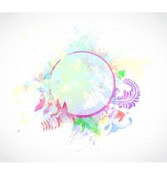 Watercolor floral frame vector