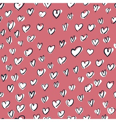 white hearts on pink vector image vector image