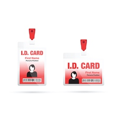 Id card woman red vector