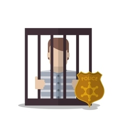Guilty inside jail of law and justice design vector