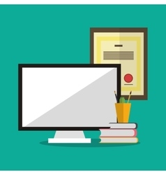 Computer office and business design vector