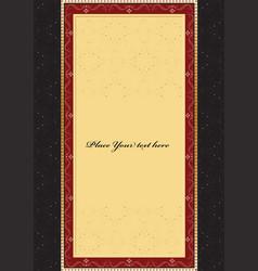 vintage background card for design vector image