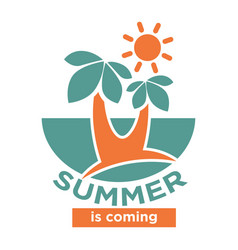 Summer is coming logo icon isolated on white vector