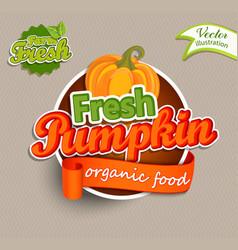 fresh pumkin logo vector image