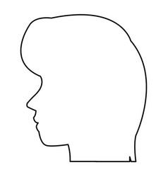 profile head woman human female avatar vector image