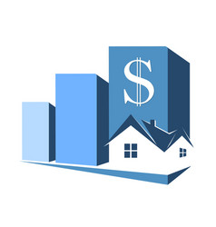 Sale purchase and rental housing symbol vector