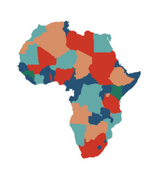 Africa map art on white background vector