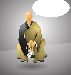 Buddhist monk doing yoga vector