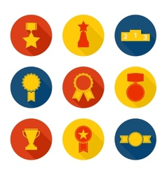 Set of icons of different awards vector