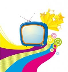 Tv poster vector