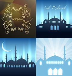 Collection of attractive background of eid vector