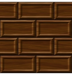 Seamless old dark oak square wall panel texture vector