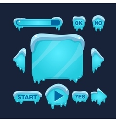 Cartoon winter game user interface vector