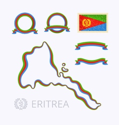 Colors of eritrea vector