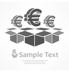 Euro signs in boxes vector