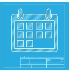Calendar sign  white section of icon vector