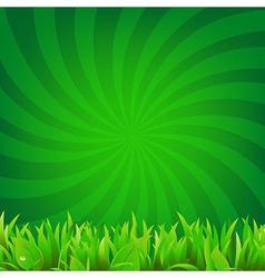 Beams and green grass vector