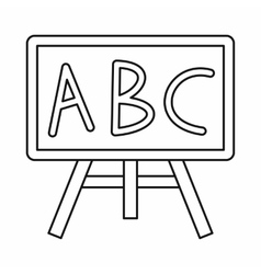 Chalkboard with the leters abc icon outline style vector
