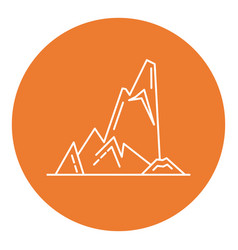 cliff with ledges icon in thin line style vector image vector image