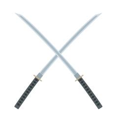 Crossed swords icon vector image vector image