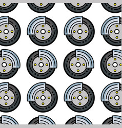 cute tire car style design background vector image vector image