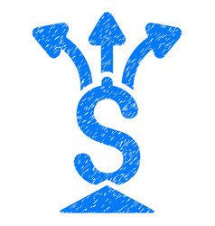 Financial aggregator grunge icon vector
