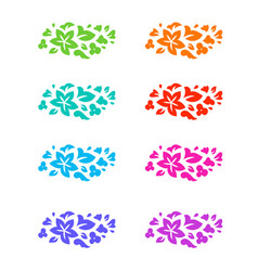 flower colorful decorative elements vector image vector image