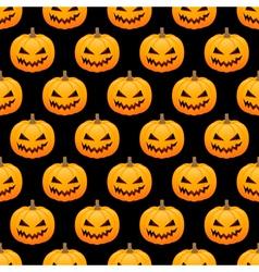 Halloween pumpkins seamless background vector image