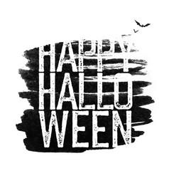 happy halloween holiday logotype vector image