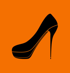 High heel shoe icon vector
